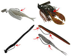 Bait Pegs to keep soft plastics rigged on your hook
