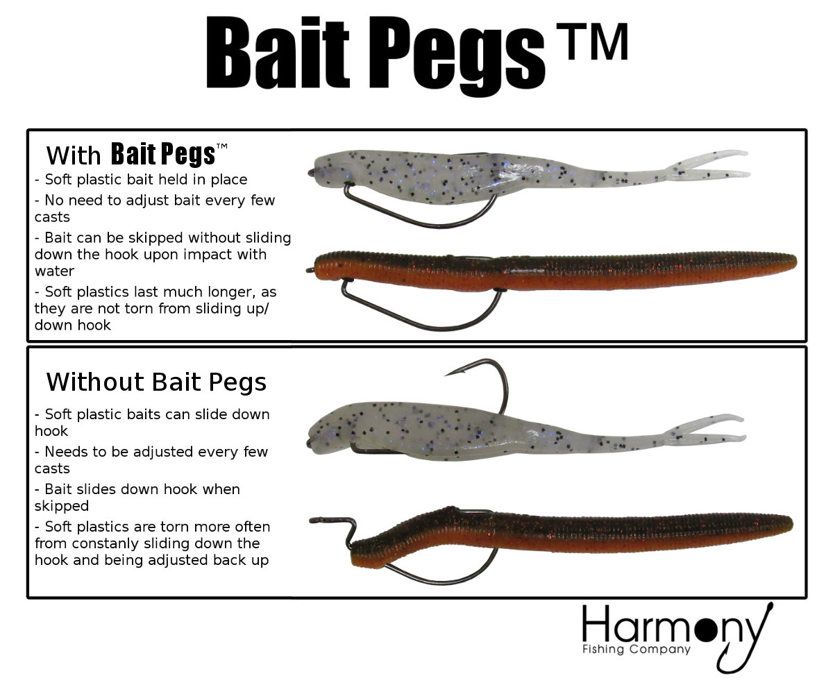 Bait pegs by harmony fishing company for Neko rig fishing
